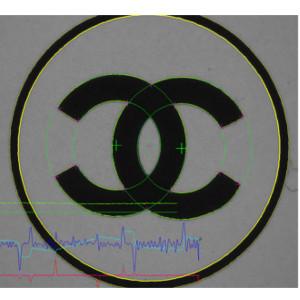 Contrôle logo CHANEL noir sur gris