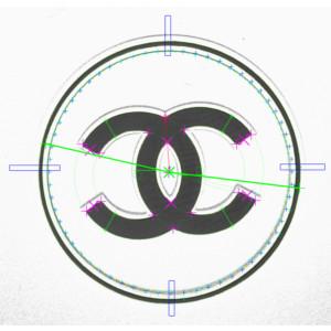 Contrôle logo CHANEL noir sur blanc