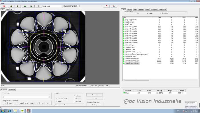 Interface contrôle frette Elie Saab - Contrôle qualité des décors